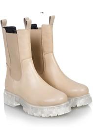 SHOE BIZ COPENHAGEN Prima Leather Boots - Beige