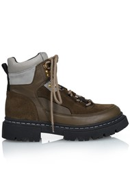 SHOE BIZ COPENHAGEN Usher Suede Hiking Boots - Olive