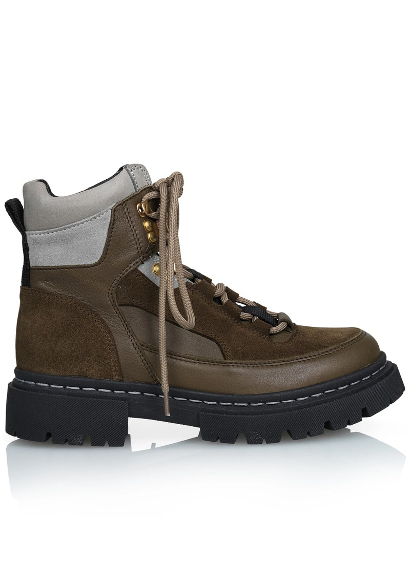 SHOE BIZ COPENHAGEN Usher Suede Hiking Boots - Olive main image