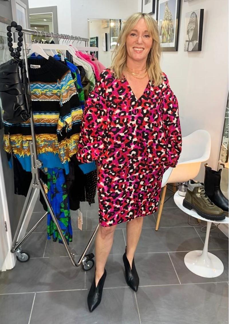 ESSENTIEL ANTWERP Ablurred Leopard Printed Dress - Hot Cheetos main image