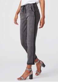 PAIGE DENIM Christy Drawstring Side Stripe Pant - Faded Mist