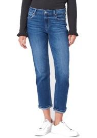 Paige Denim Brigitte Mid Rise Slim Fit Boyfriend Jeans - Roam