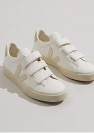 VEJA Recife Leather Trainers - Extra White Pierre & Natural