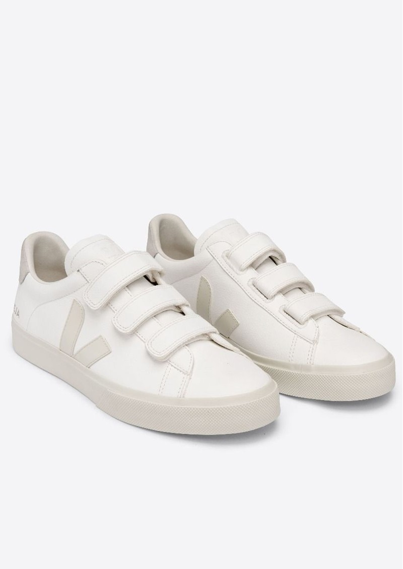 VEJA Recife Leather Trainers - Extra White Pierre & Natural main image