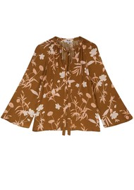 Lily and Lionel Etta Organic Lotus Silk Top - Botanical Gold