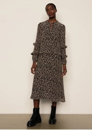 Lily and Lionel Rina Dress - Floral Leopard Black