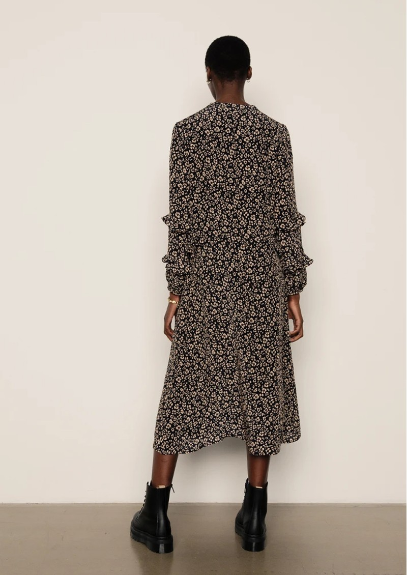 Lily and Lionel Rina Dress - Floral Leopard Black main image