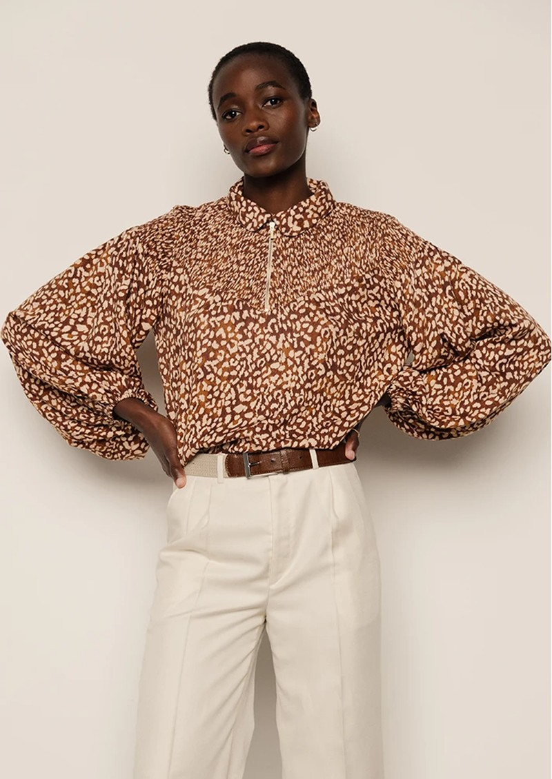 Lily and Lionel Alexa Printed Top - Vintage Animal Bronze main image