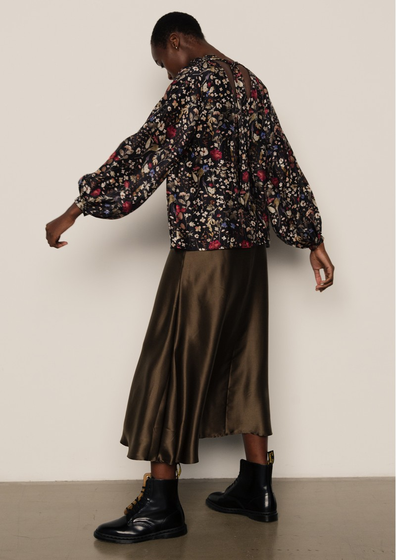 Lily and Lionel Helena Blouse - Floral Black main image