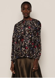 Lily and Lionel Helena Blouse - Floral Black