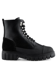 SHOE THE BEAR Rebel Leather Lace Up Boot - Black