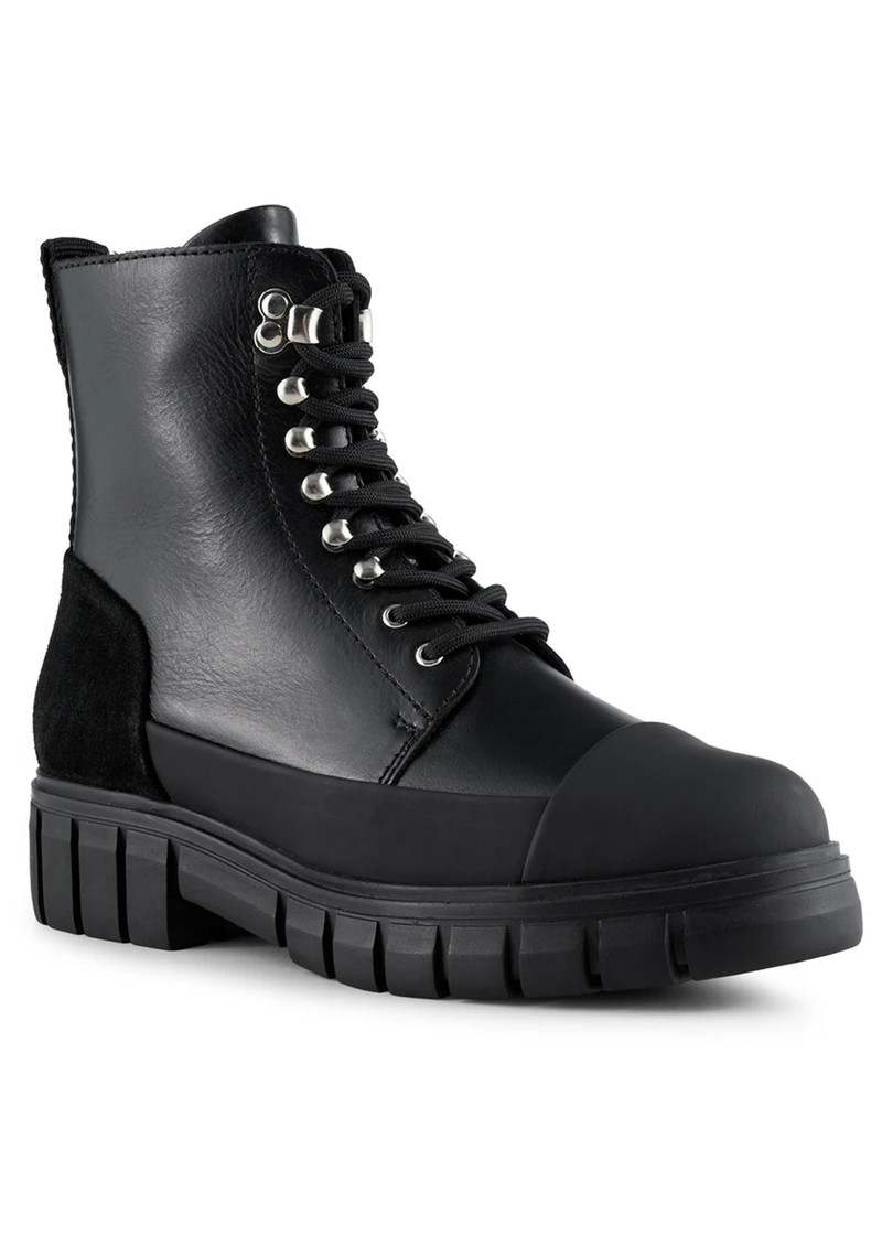 SHOE THE BEAR Rebel Leather Lace Up Boot - Black main image