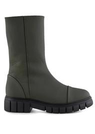 SHOE THE BEAR Rebel High Shaft Leather Boots - Khaki