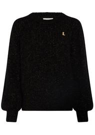 FABIENNE CHAPOT Starry Lurex Pullover - Black & Gold