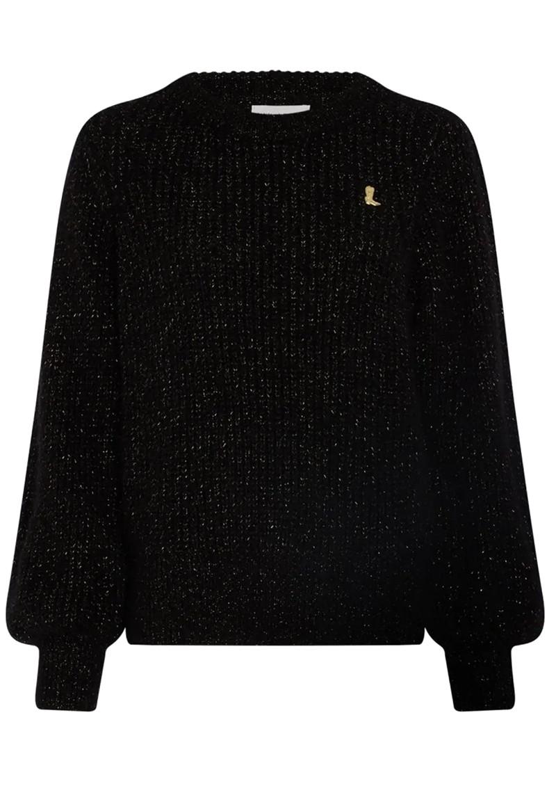 FABIENNE CHAPOT Starry Lurex Pullover - Black & Gold main image
