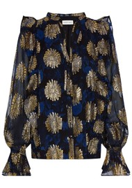 FABIENNE CHAPOT Maxime Printed Blouse - Midnight Bloom