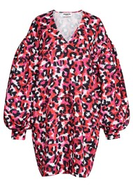 ESSENTIEL ANTWERP Ablurred Leopard Printed Dress - Hot Cheetos