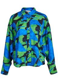 ESSENTIEL ANTWERP Acquire Printed Shirt - Klein Blue
