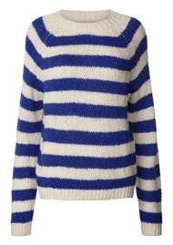 LOLLYS LAUNDRY Jobel Knitted Jumper - Neon Blue