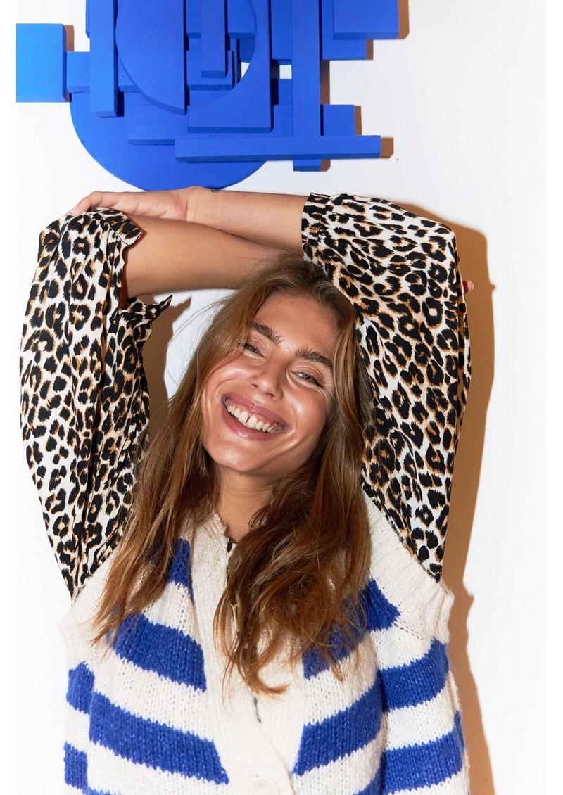 LOLLYS LAUNDRY Celine Knitted Vest - Neon Blue main image