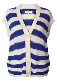 LOLLYS LAUNDRY Celine Knitted Vest - Neon Blue