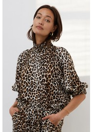 LOLLYS LAUNDRY Bobby Printed Top - Leopard