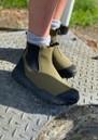 Magda Rubber Waterproof Track Boot - Dark Olive & Black additional image