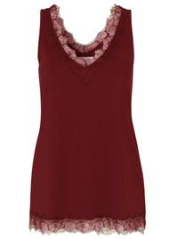 Rosemunde Billie Lace Cami Top - Berry Red