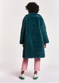 ESSENTIEL ANTWERP Alexander Reversible Faux Fur Coat - Blue