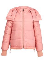 ESSENTIEL ANTWERP Abrasion Reversible Faux Fur Puffer Coat - Powder Pink