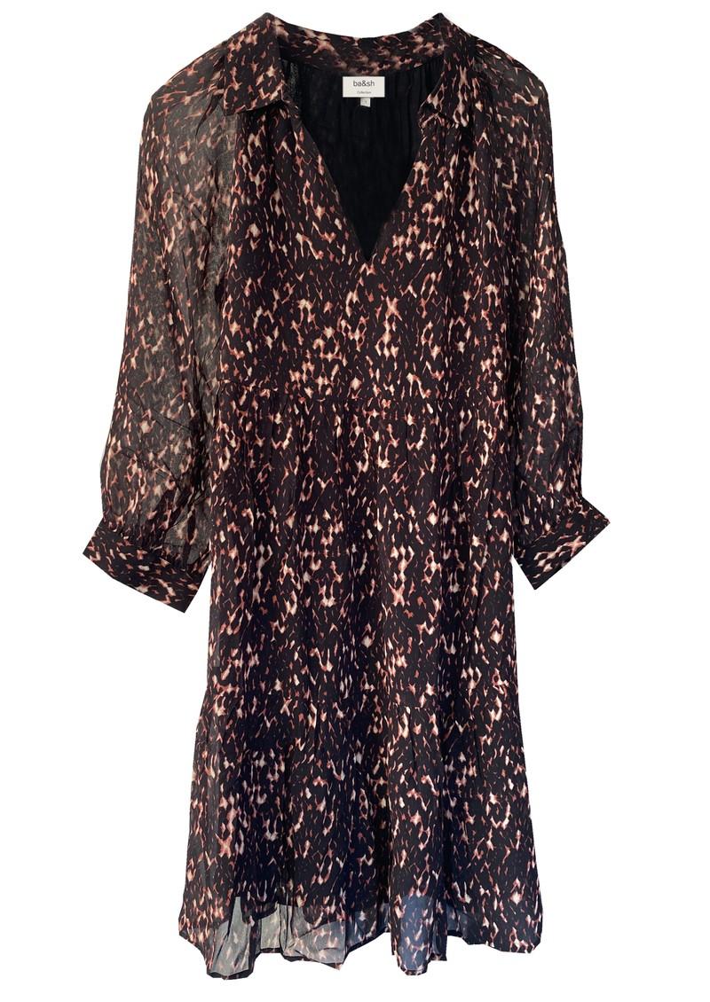 Ba&sh Pola Printed Dress - Black main image