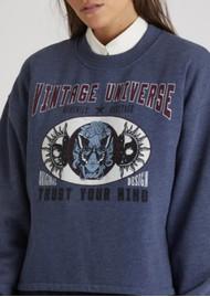 BERENICE Dave Cotton Mix Sweater - Blue