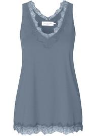 Rosemunde Billie Lace Cami Top - Blue Mirage