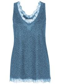 Rosemunde Billie Lace Cami Top - Blue Leopard