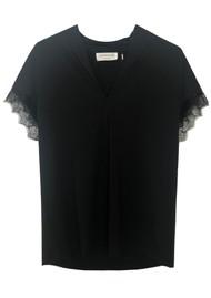 Rosemunde Billie Lace T-shirt - Black