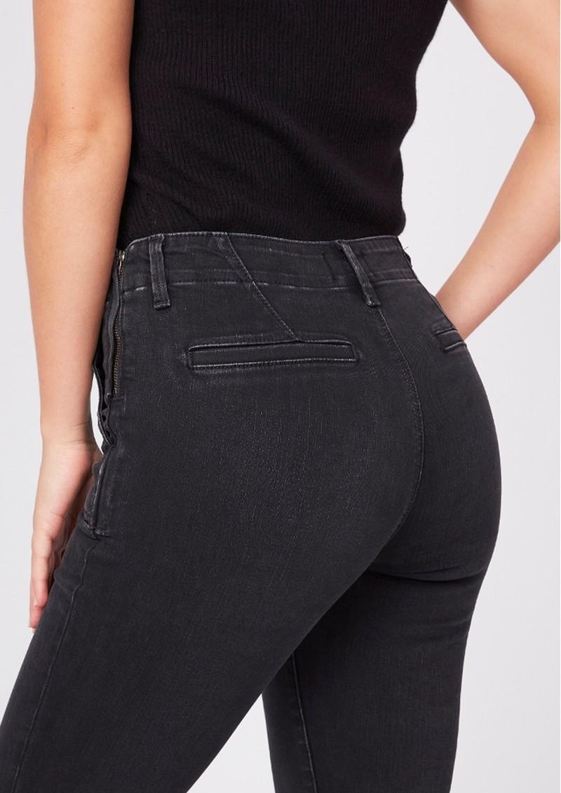 Paige Denim Mayslie Slim Straight Side Zipper Joggers - Jetset main image