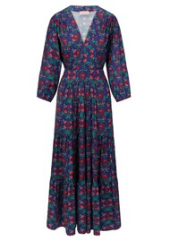 SIRENS Riri Printed Maxi Dress - Blue Flower