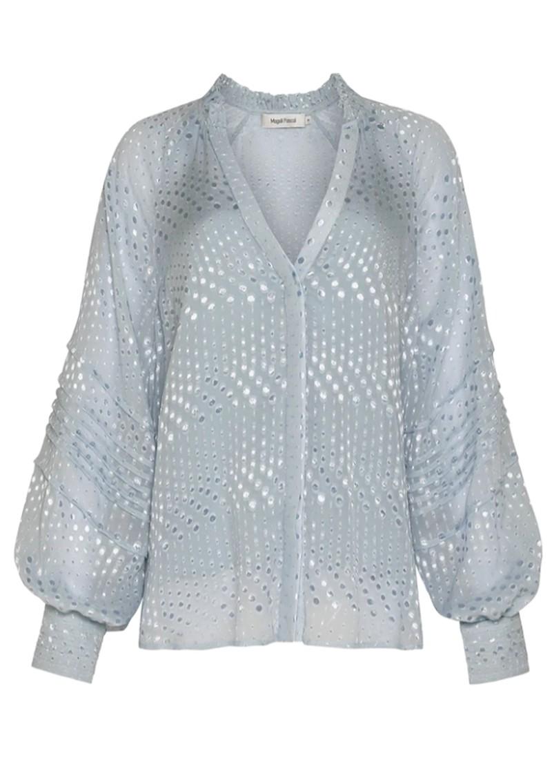 MAGALI PASCAL Marlene Silk Mix Shirt - Ice Blue main image