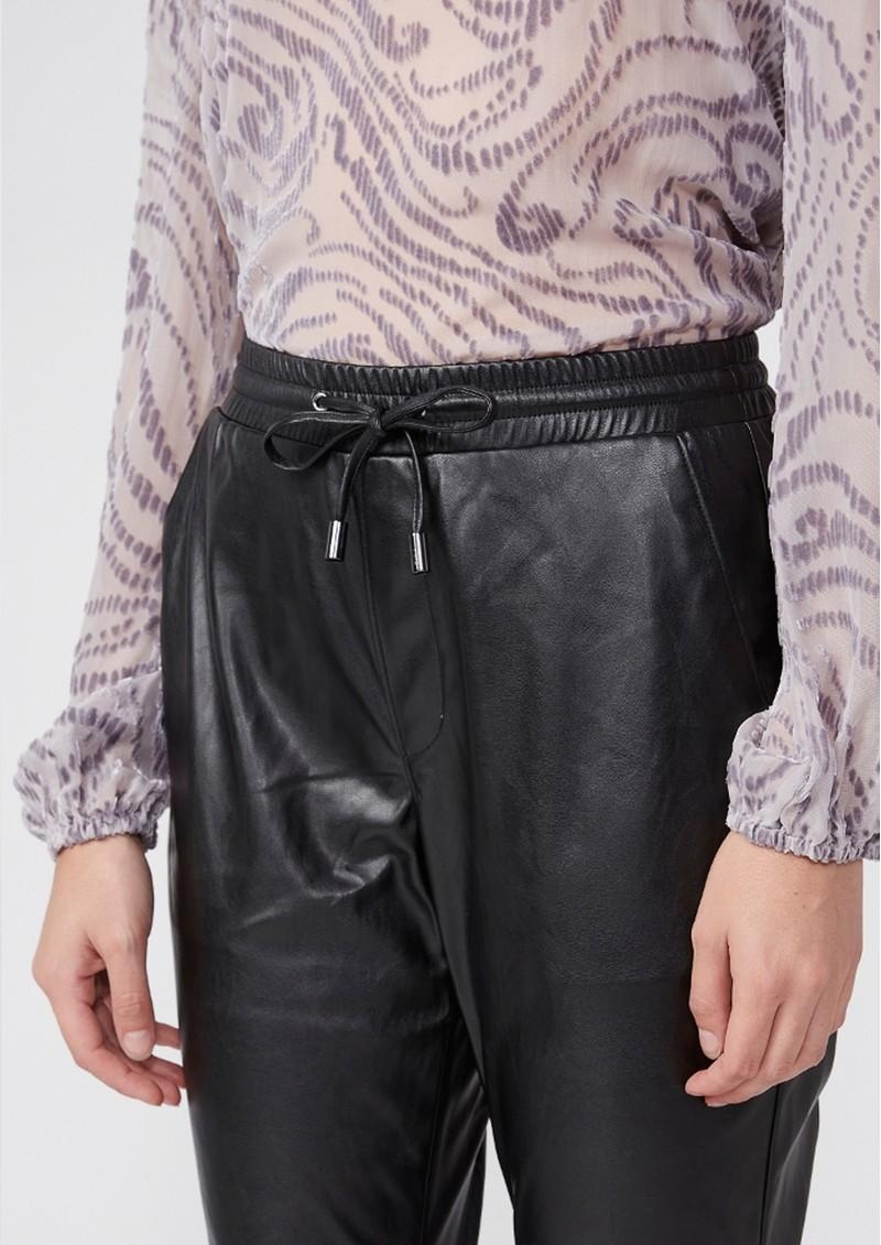 Paige Denim Viviette High Rise Vegan Leather Jogger - Black main image