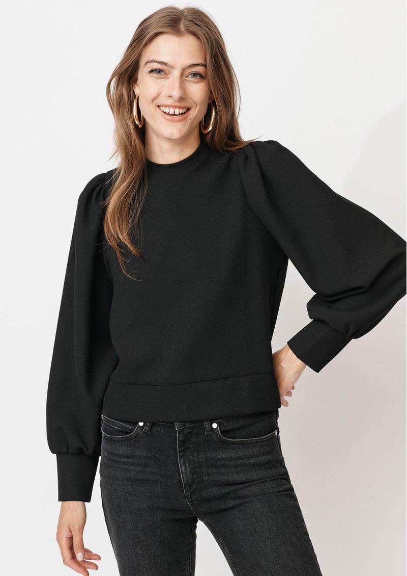 MAYLA Olive Top - Black main image