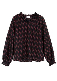 MAYLA Rooney Printed Blouse - Wisteria