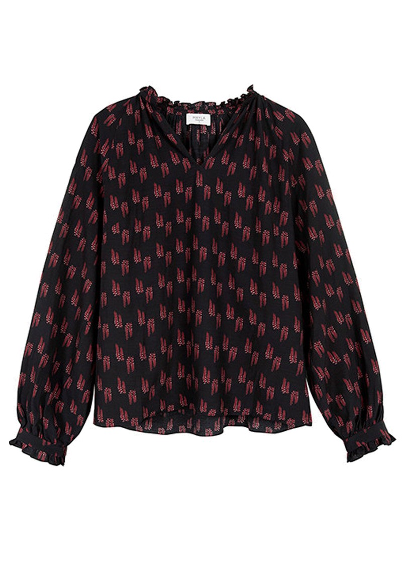 MAYLA Rooney Printed Blouse - Wisteria main image