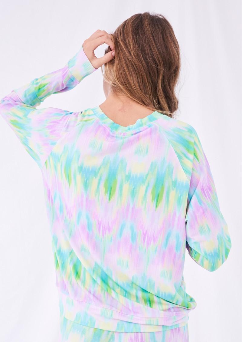 STRIPE & STARE Essential Sweatshirt - Pastel Ikat main image