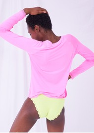 STRIPE & STARE Slouch Top - Hot Pink