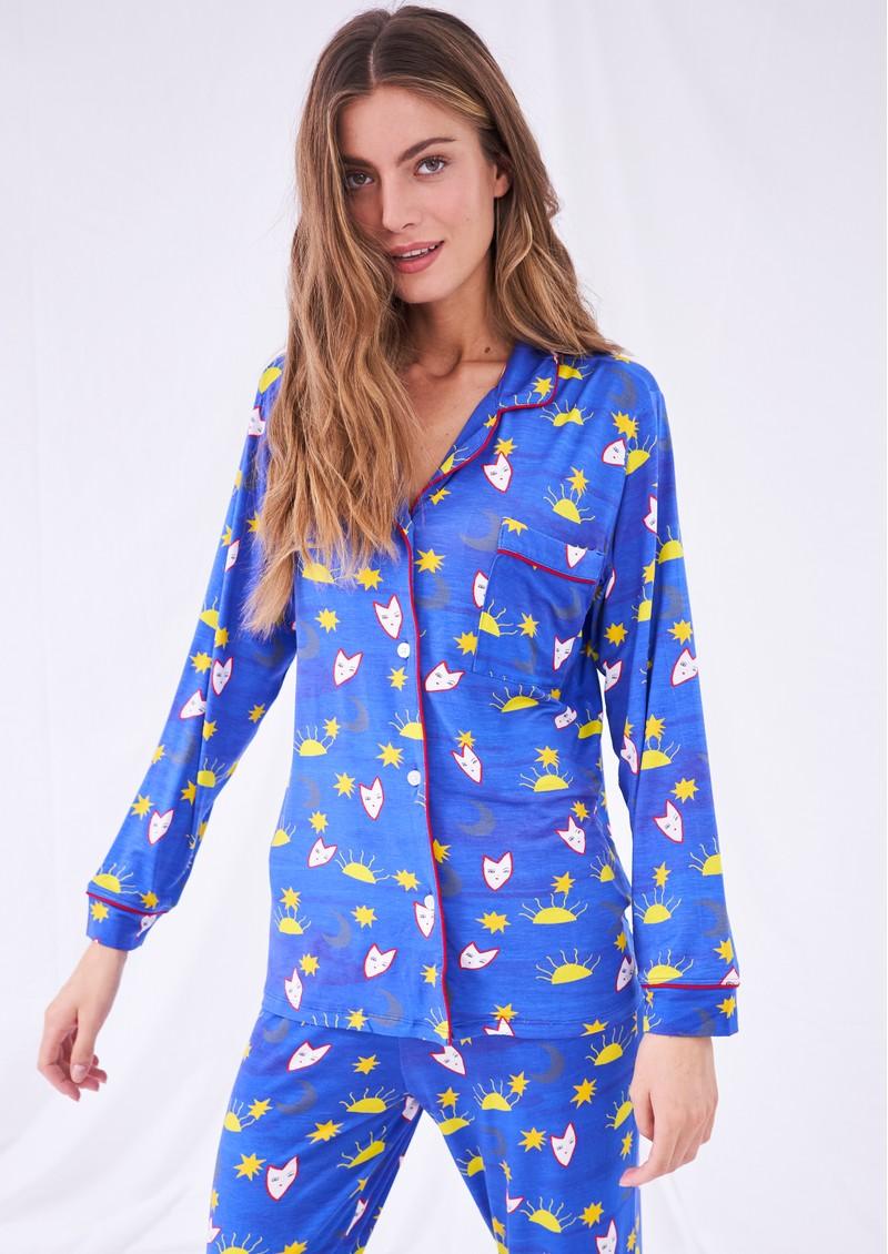 STRIPE & STARE Tatiana Pyjama Set - Stars & Moon main image