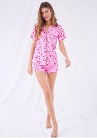 STRIPE & STARE Bedshort Pyjama Set - The Cherries
