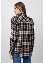 Rails Hunter Shirt - Black, Ivory & Mauve