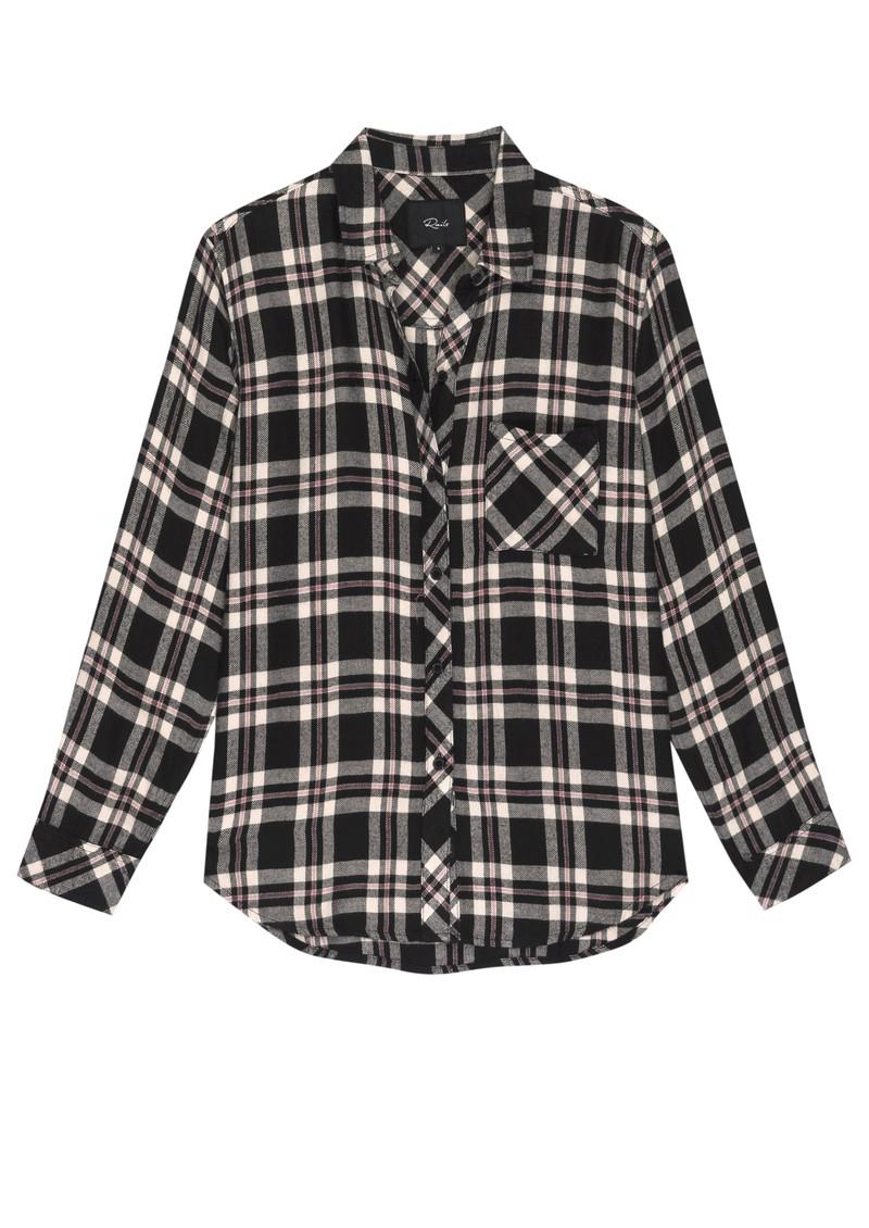 Rails Hunter Shirt - Black, Ivory & Mauve main image