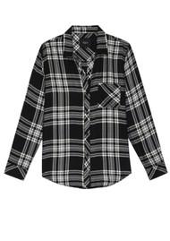 Rails Hunter Shirt - Black Sky Ivory