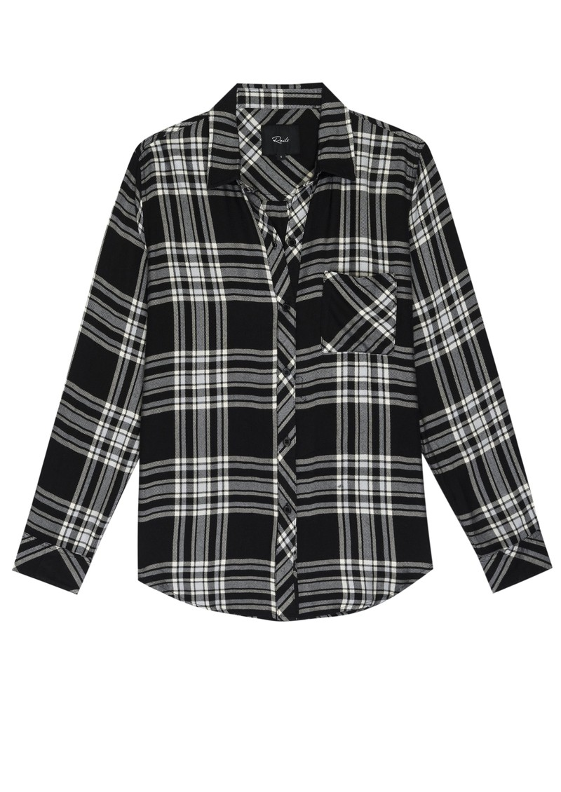 Rails Hunter Shirt - Black Sky Ivory main image
